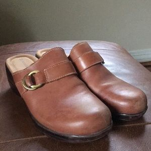 Naturalizer Clogs Brown Leather 9